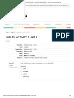 INGLES_ ACTIVITY 2 UNIT 1 _ AYUDAS Y RESPUESTAS