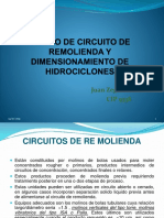 DISEÑO DE CIRCUITO DE REMOLIENDA CONVENCIONAL E HIDROCICLONES.pptx