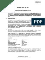 Informe de Inspeccion de Prueba de Postes