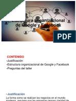 Estructura Organizacional de Google y Facebook