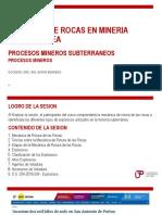 PROCESOS DE MINERIA SUBTERRANEA