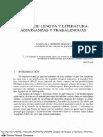lenguaje y literatura