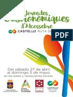 Jornades Gastronomiques Alcossebre Programa