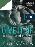 01 Desistir -The Devil's Boys MC -Jenika Snow