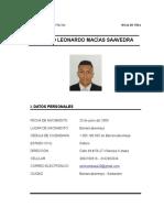 Hoja de Vida Sergio Macias Numero de El
