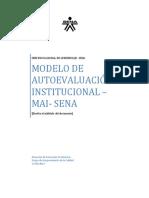 Modelo de Autoevaluacion Institucional MAI - SENA
