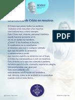 P. Dávila (La Presencia de Cristo en Nosotros)