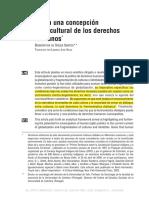 Una concepción cultural de los derechos humanos - Sousa