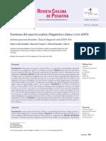 Diagnóstico Clinico y Test ADOS