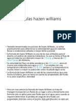 Formulas Hazen Williams