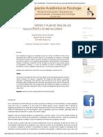 Habilidades, Intereses y Plan de Vida en Los Adolescentes de Bachillerato