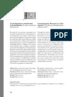 La investigación en comunicación en Latinoamerica