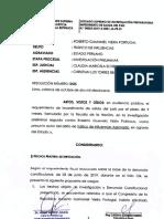 Resolución sobre impedimento de salida del país a Roberto Vieira