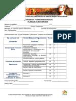 Planilla de Inscripcion Maestria en Ciencias Para La Educacion