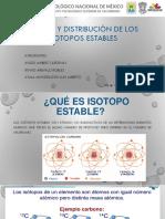 Origen y Distribución de Los Isotopos Estables u2