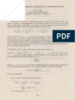 Solve a differential equation by differentiation
