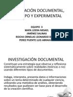 investigacion documental de campo y experimental