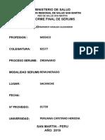 Informe Final Serums 2018-II 2019-i Medico