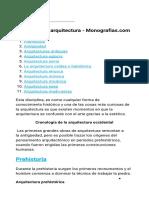 Historia de La Arquitectura - Monografias.com
