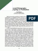Rabinow - Beyond Ethnography