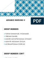 Advanced nursing