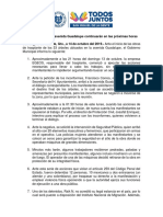 Boletín oficial sobre hechos en Av. Guadalupe