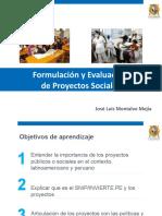 Formulación y Evaluación de Proyectos Sociales I