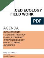 Advanced Ecology