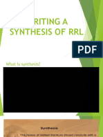 Writing a Synthesis of Rrl