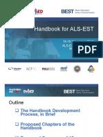 Handbook for ALS-EST