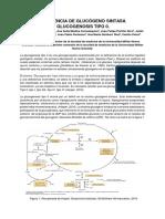 Glicogenosis Tipo 0 Resumen 2019