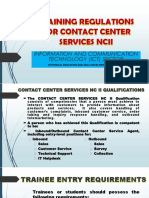 Training Regulations for Contact Center Services