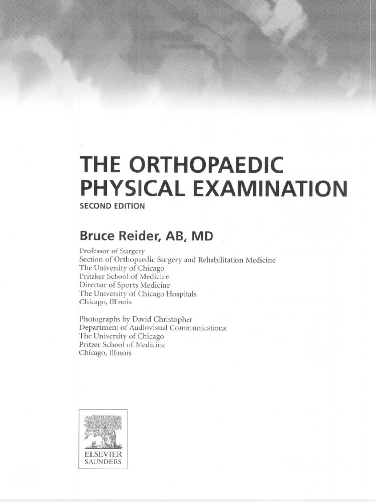 The Orthopaedic Clinical Examination Reider