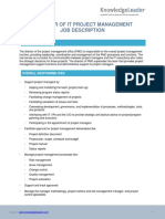 Director PMO Job Description (1)