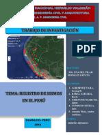 registro sismico