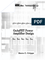 GaAs FET Power Amplifier Design [Matcom TN3r2]