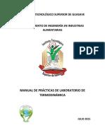 2015 Manual de Practicas de Laboratorio de TERMODINAMICA Completo