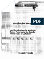 Load Terminations for Maximum Output Power [Matcom TN3r3]