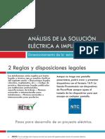 Análisis de La Solución Eléctrica a Implementar