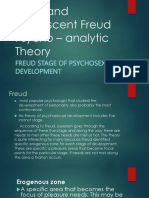 Child and Adolescent Freud Psycho Analytic TheoryFINAL