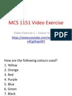 mcs 1151 video exercise 1 - logo colour