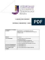Laboratory Report Cover Page