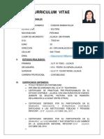 Cv Nildacondori Mamani Cajero Bancario Juliaca