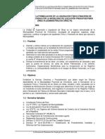 Directiva Para La Formulacion de La Liquidacion de Proyectos