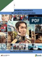 Instruccion Congreso de Las Artes y Las Culturas