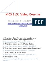 mcs 1151 video exercise 2 - gary vee keynote