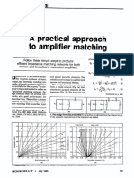 A Practical Approach to Amplifier Matching [Houng 1985]