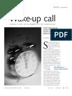 Wake Up Call Article