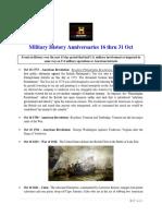 Military History Anniversaries 1016 Thru 103119