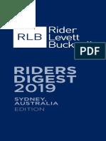 2019 RLB Rider Digest Sydney 2 1